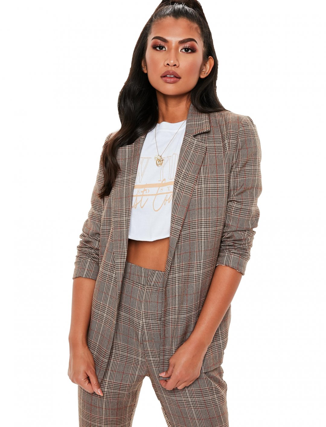 "Check Blazer {""id"":5,""product_section_id"":1,""name"":""Clothing"",""order"":5} Missguided"