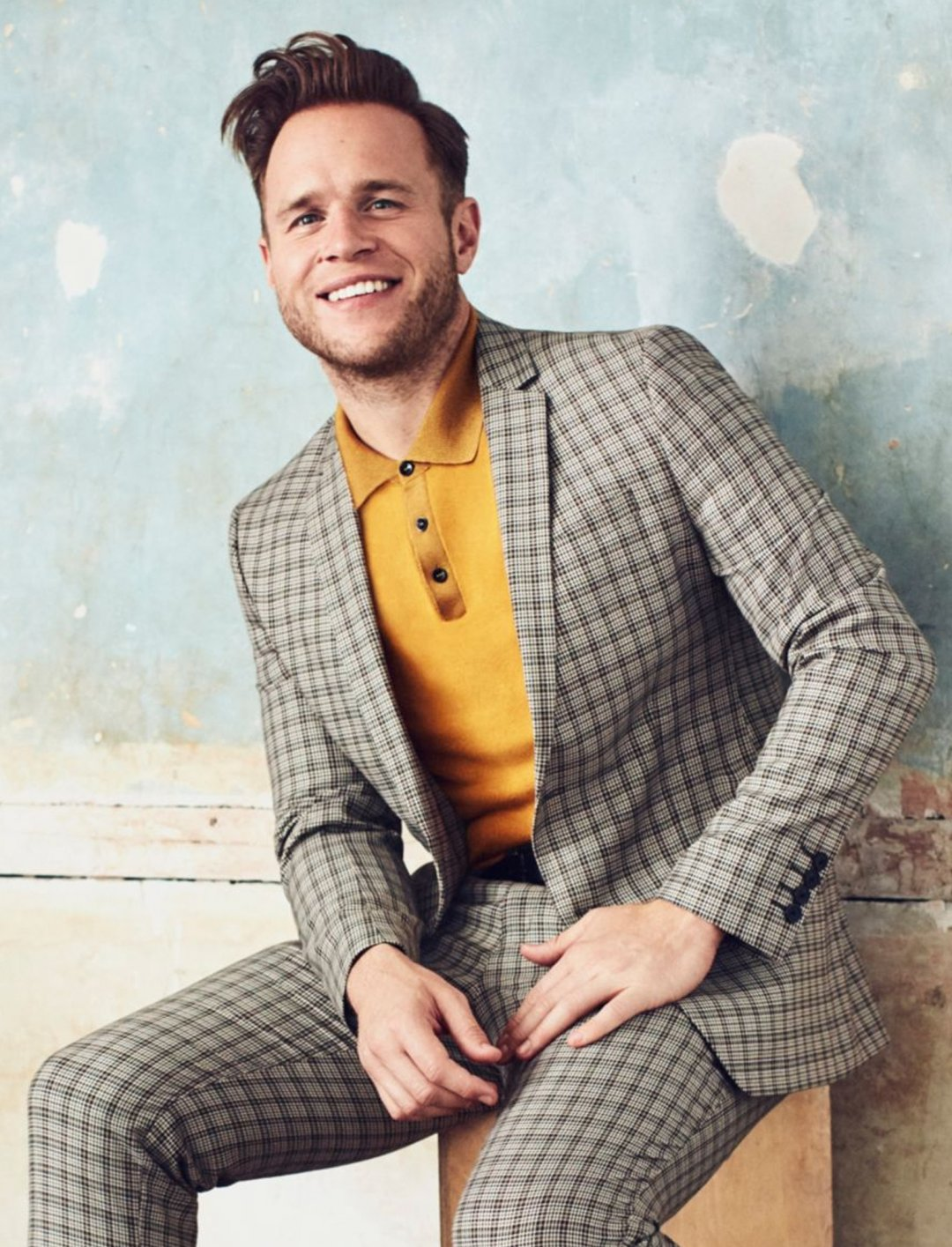 "Check Suit Jacket {""id"":5,""product_section_id"":1,""name"":""Clothing"",""order"":5} Olly Murs x River Island"