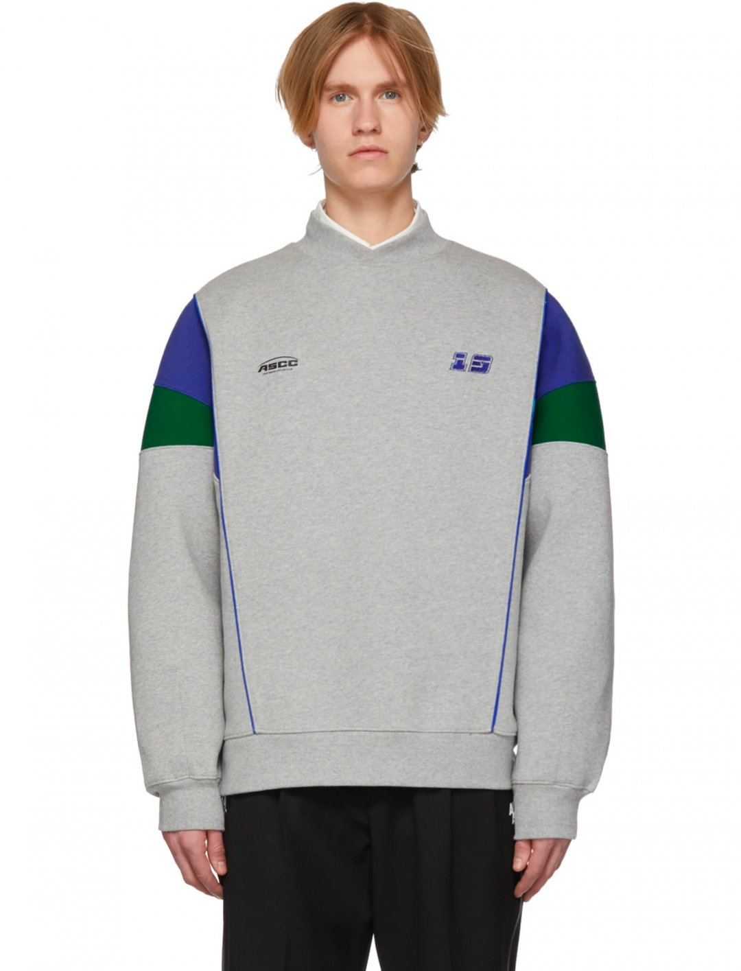 "Colour-block Sweatshirt {""id"":5,""product_section_id"":1,""name"":""Clothing"",""order"":5} ADDER error x SSENSE"
