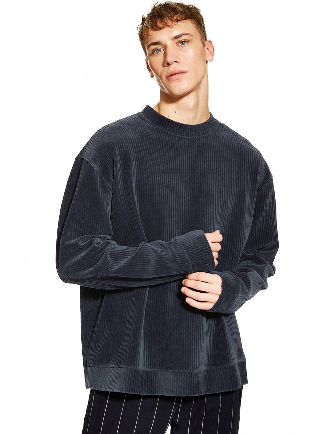 "Corduroy And Velour Sweatshirt {""id"":5,""product_section_id"":1,""name"":""Clothing"",""order"":5} Topman"