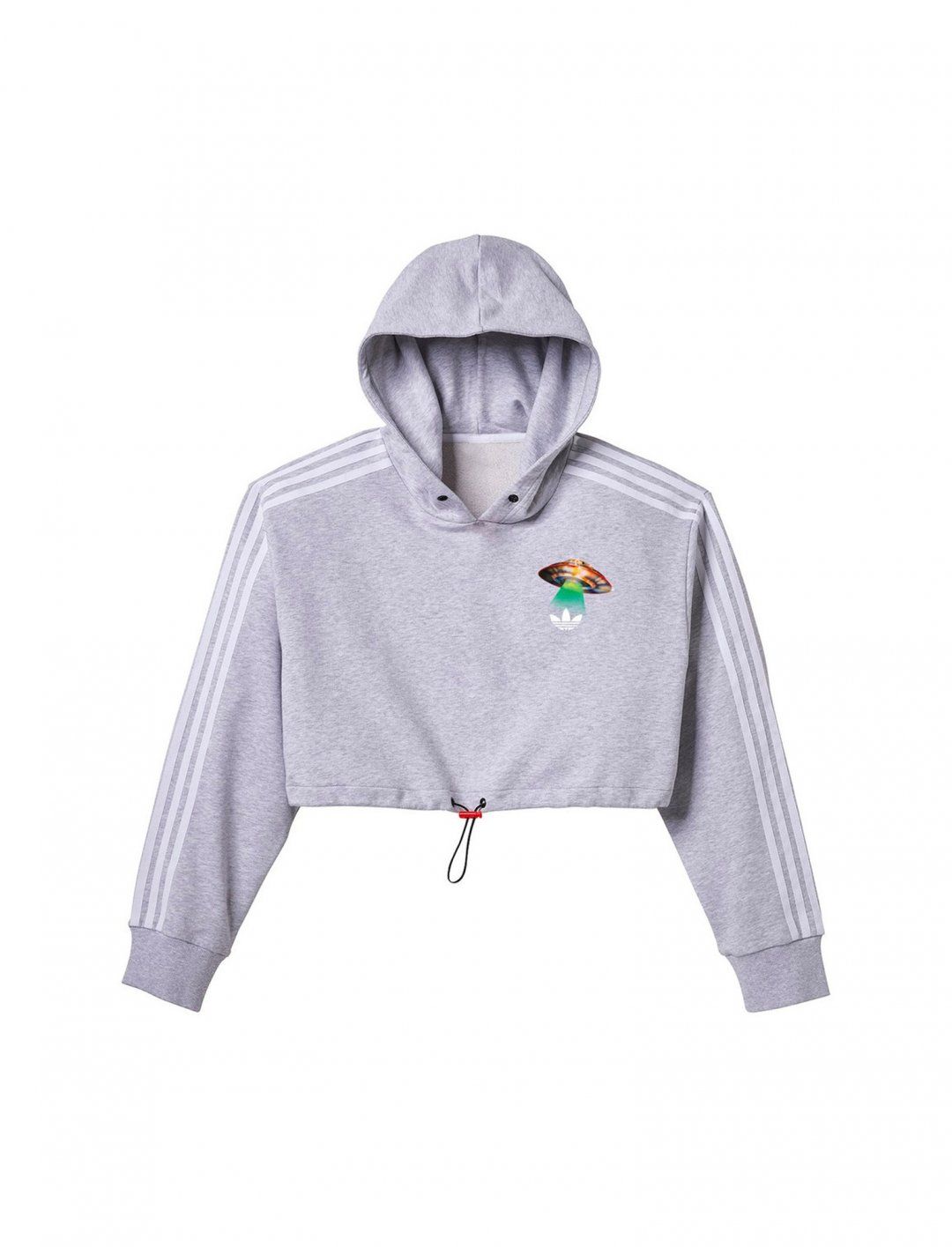 "Fiorucci Cropped Hoodie {""id"":5,""product_section_id"":1,""name"":""Clothing"",""order"":5} Adidas x Fiorucci"