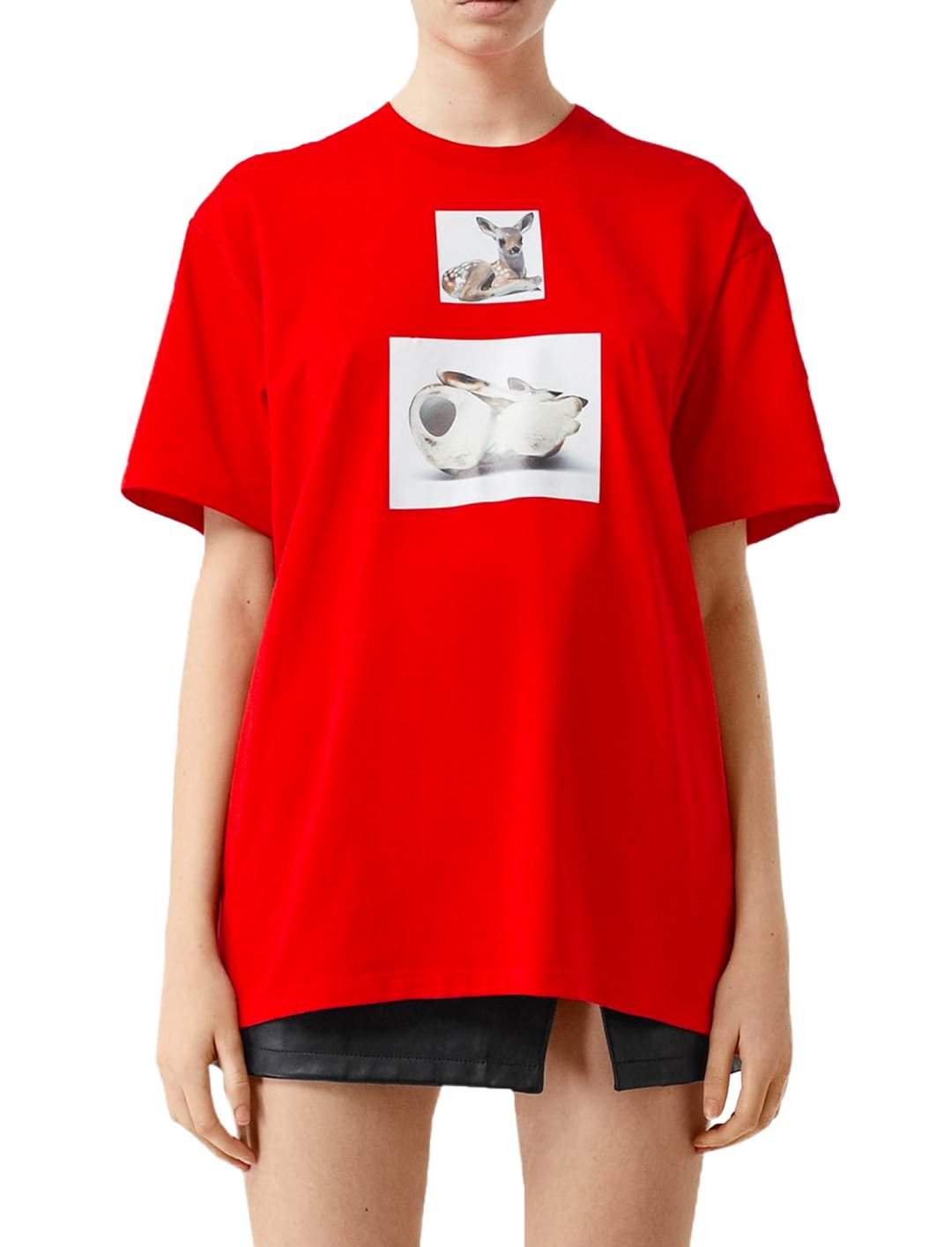 "Deer Print T-shirt {""id"":5,""product_section_id"":1,""name"":""Clothing"",""order"":5} Burberry"