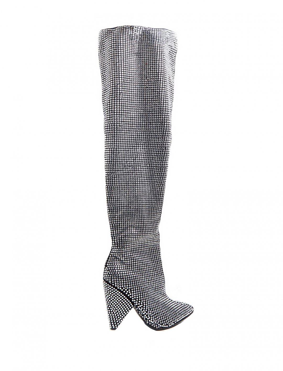 "Diamante Slouch Boot {""id"":12,""product_section_id"":1,""name"":""Shoes"",""order"":12} Hailey Baldwin x Pretty Little Thing"