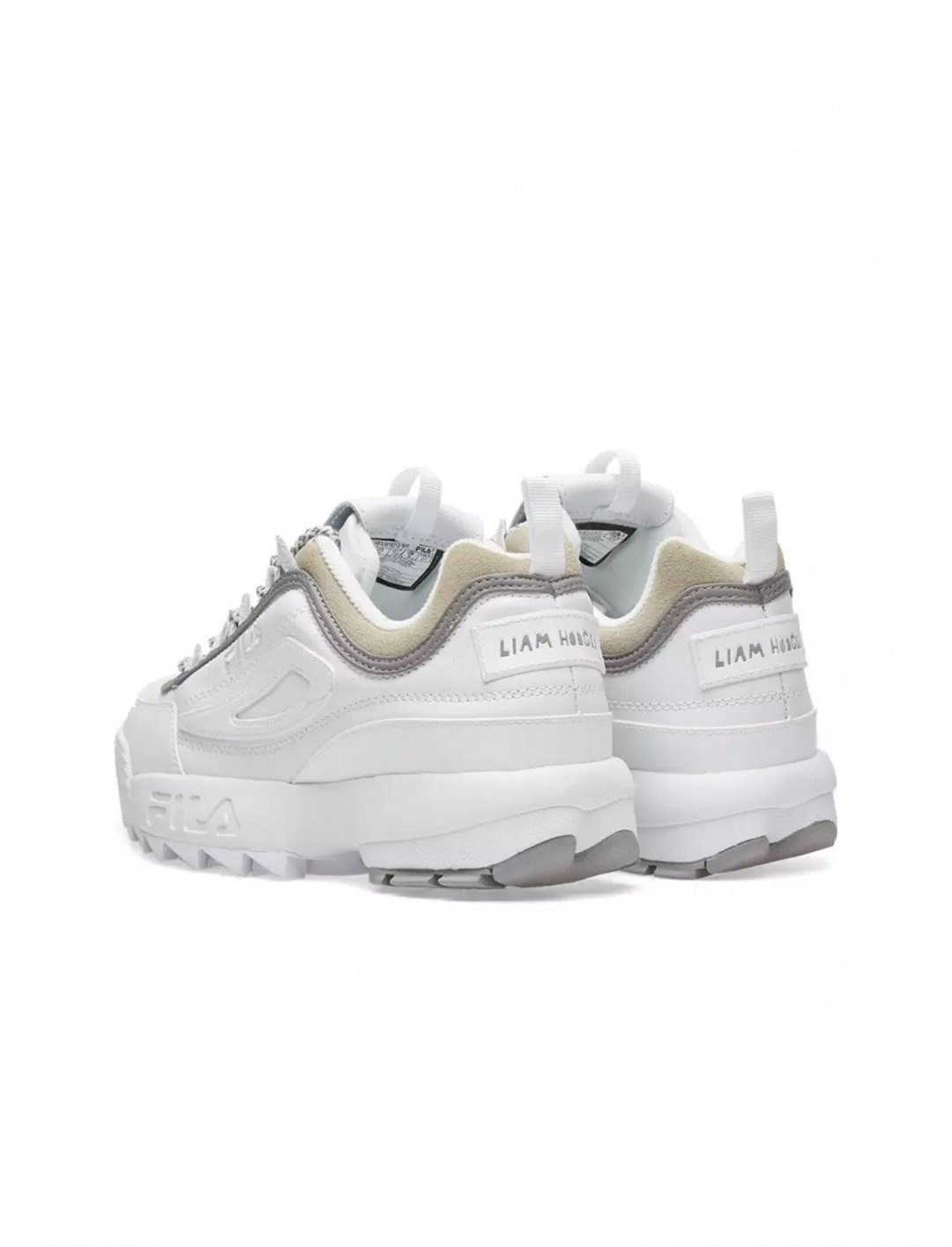 "Disruptor II Sneakers {""id"":12,""product_section_id"":1,""name"":""Shoes"",""order"":12} LIAM HODGES X FILA"