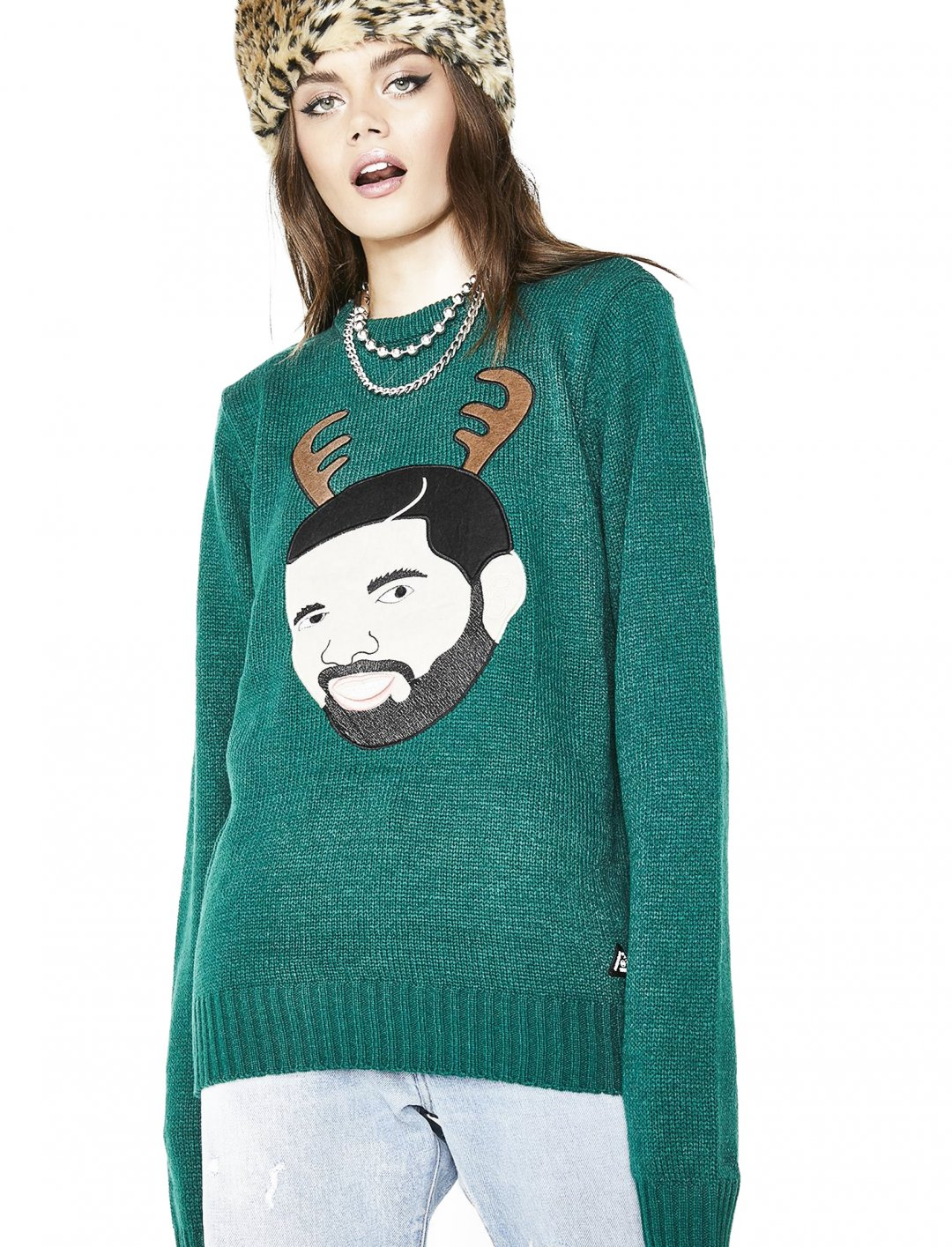 "Drake Holiday Sweater {""id"":5,""product_section_id"":1,""name"":""Clothing"",""order"":5} Dolls Kill"