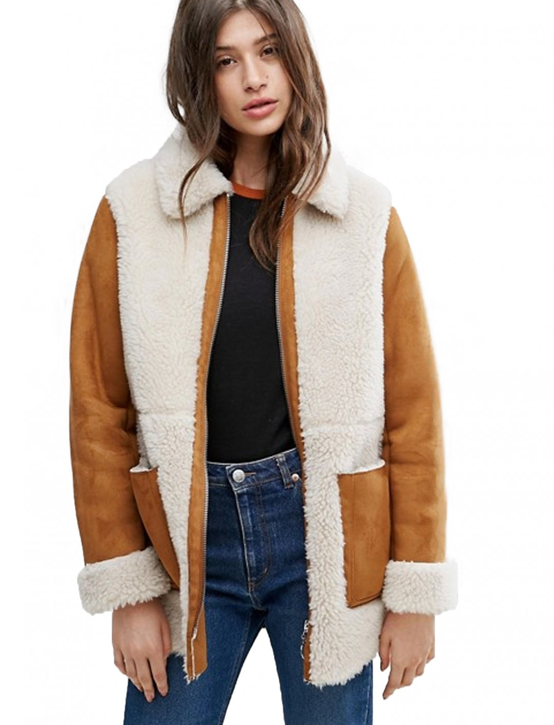 "Faux Shearling Coat {""id"":5,""product_section_id"":1,""name"":""Clothing"",""order"":5} ASOS DESIGN"