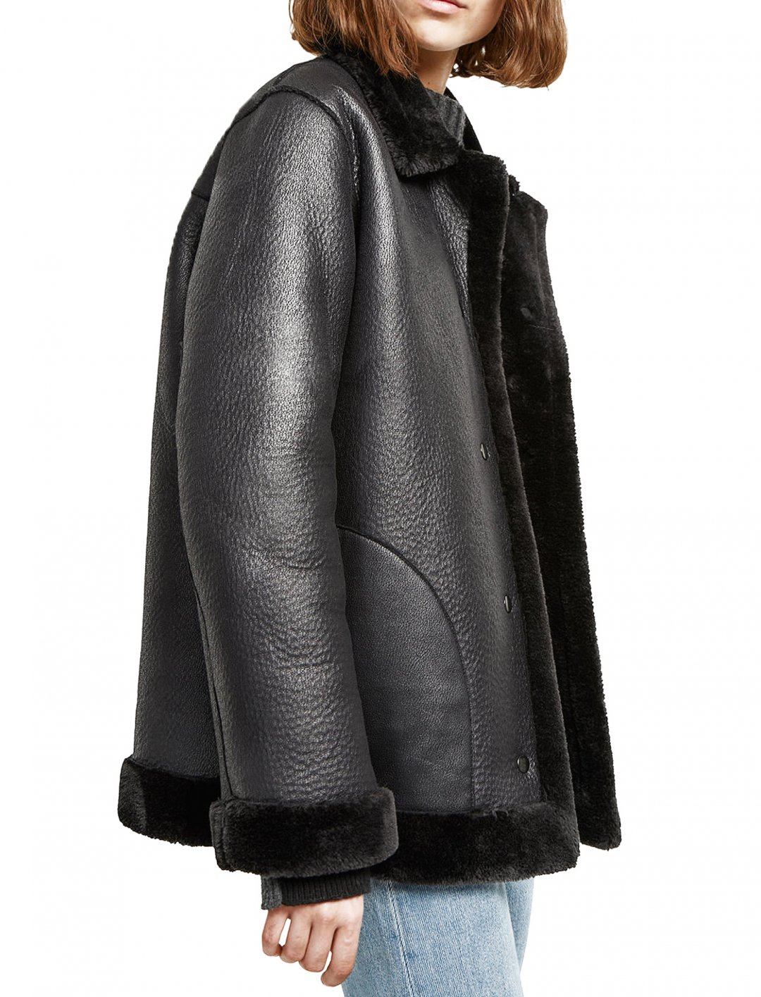 "Faux Shearling Coat {""id"":5,""product_section_id"":1,""name"":""Clothing"",""order"":5} French Connection"