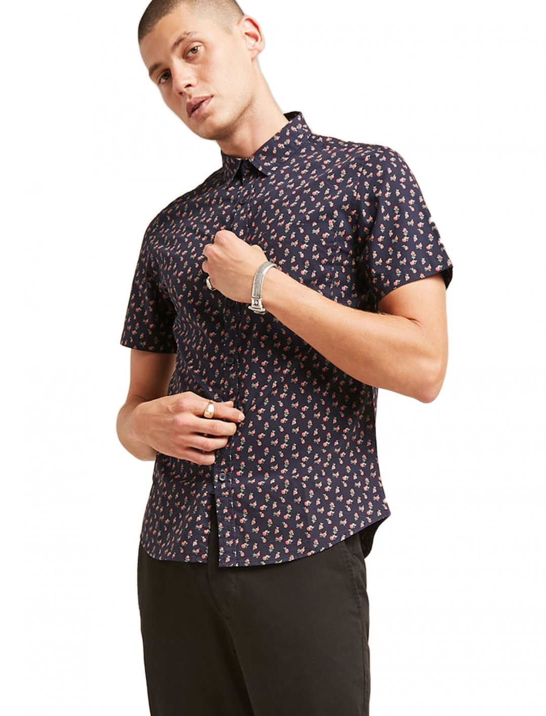 "Floral Pocket Shirt {""id"":5,""product_section_id"":1,""name"":""Clothing"",""order"":5} Forever 21"