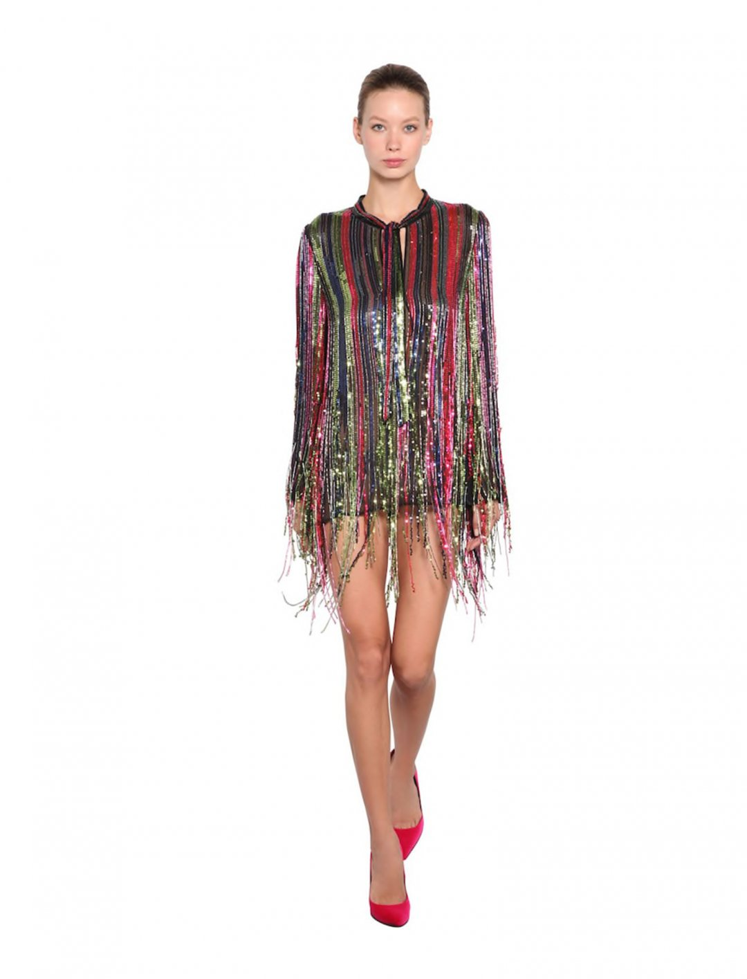 "Fringe Mini Dress {""id"":5,""product_section_id"":1,""name"":""Clothing"",""order"":5} Amen"