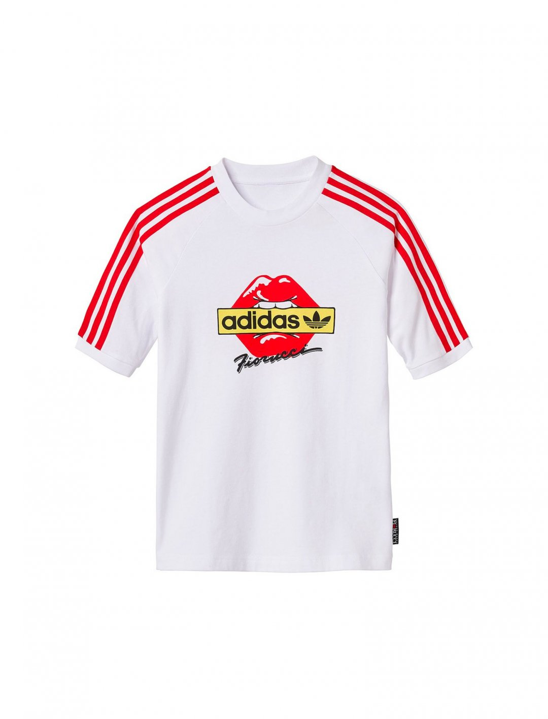 "Fiorucci Kiss T-shirt {""id"":5,""product_section_id"":1,""name"":""Clothing"",""order"":5} Adidas x Fiorucci"