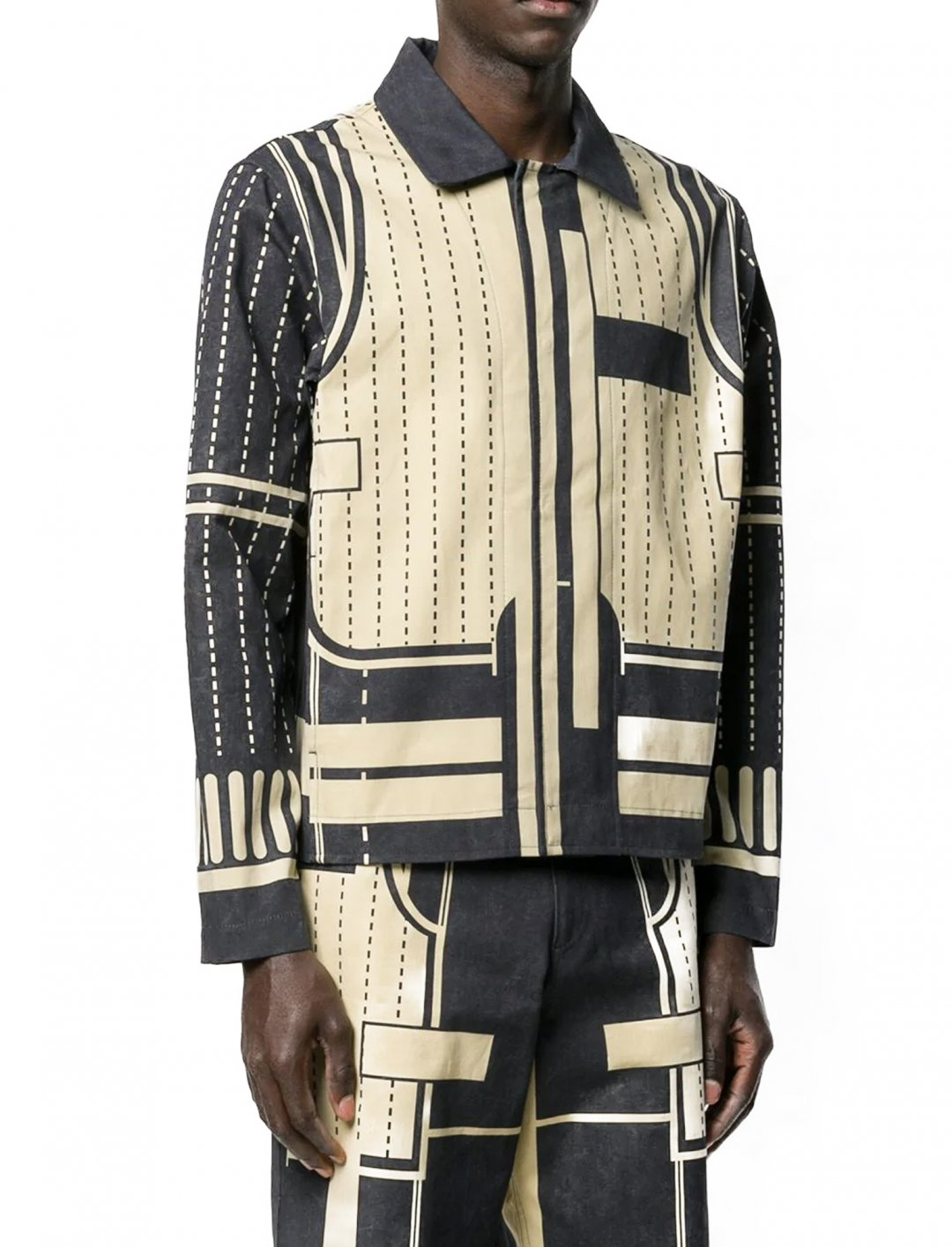 "Geometric Print Jacket {""id"":5,""product_section_id"":1,""name"":""Clothing"",""order"":5} Craig Green"