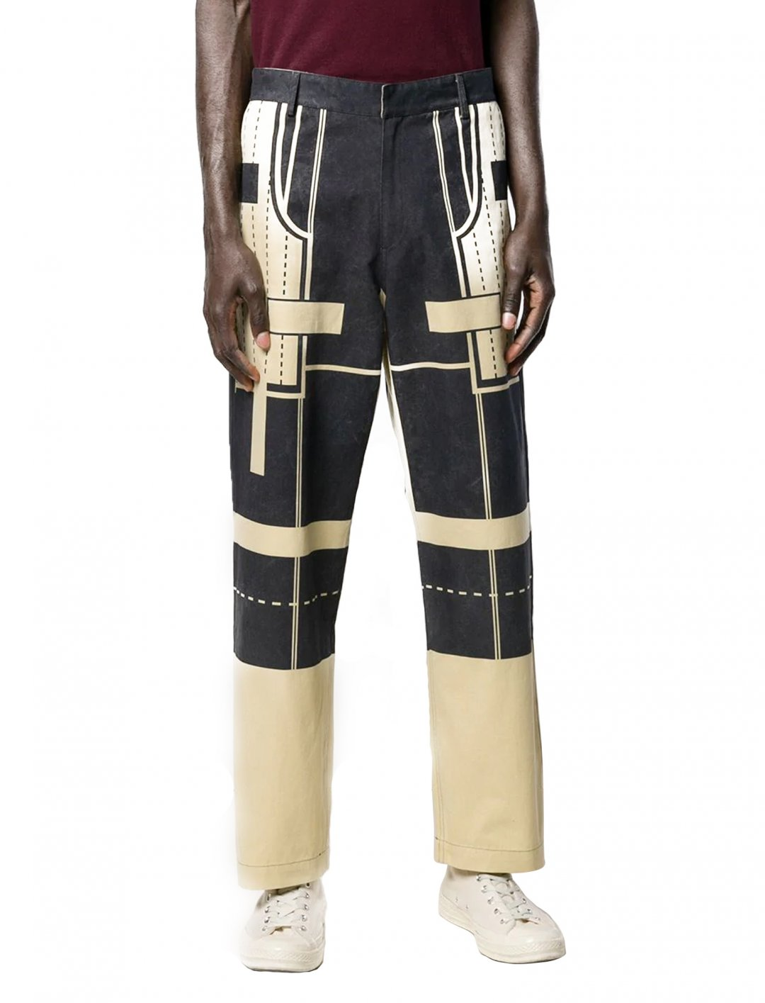 "Geometric Print Trousers {""id"":5,""product_section_id"":1,""name"":""Clothing"",""order"":5} Craig Green"