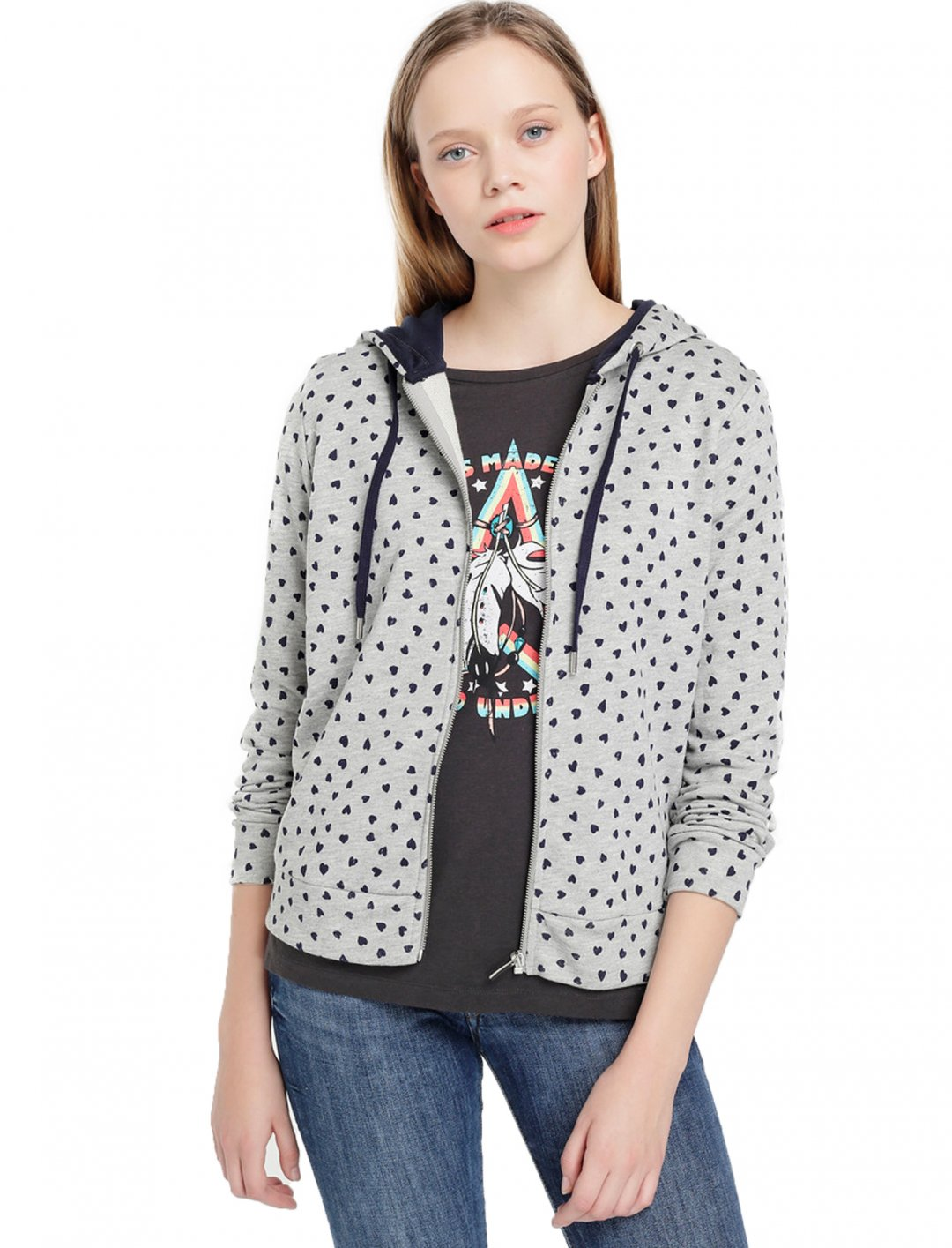 "Heart Print Hoodie {""id"":5,""product_section_id"":1,""name"":""Clothing"",""order"":5} Esprit"