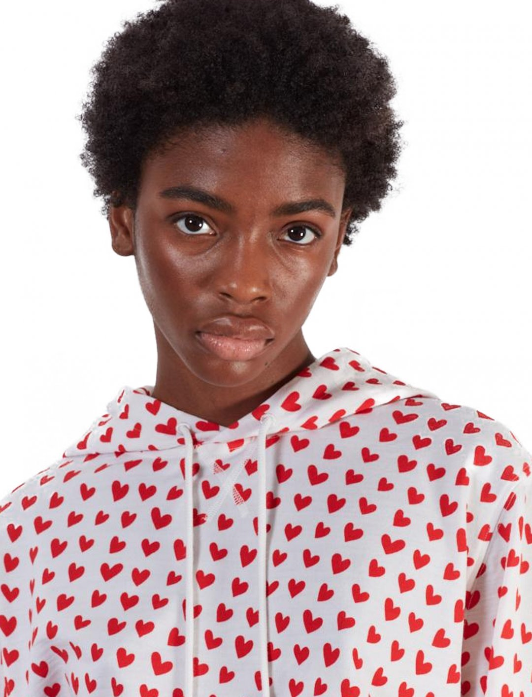 "Heart Print Hoodie {""id"":5,""product_section_id"":1,""name"":""Clothing"",""order"":5} House Of Holland x The Woolmark Company"