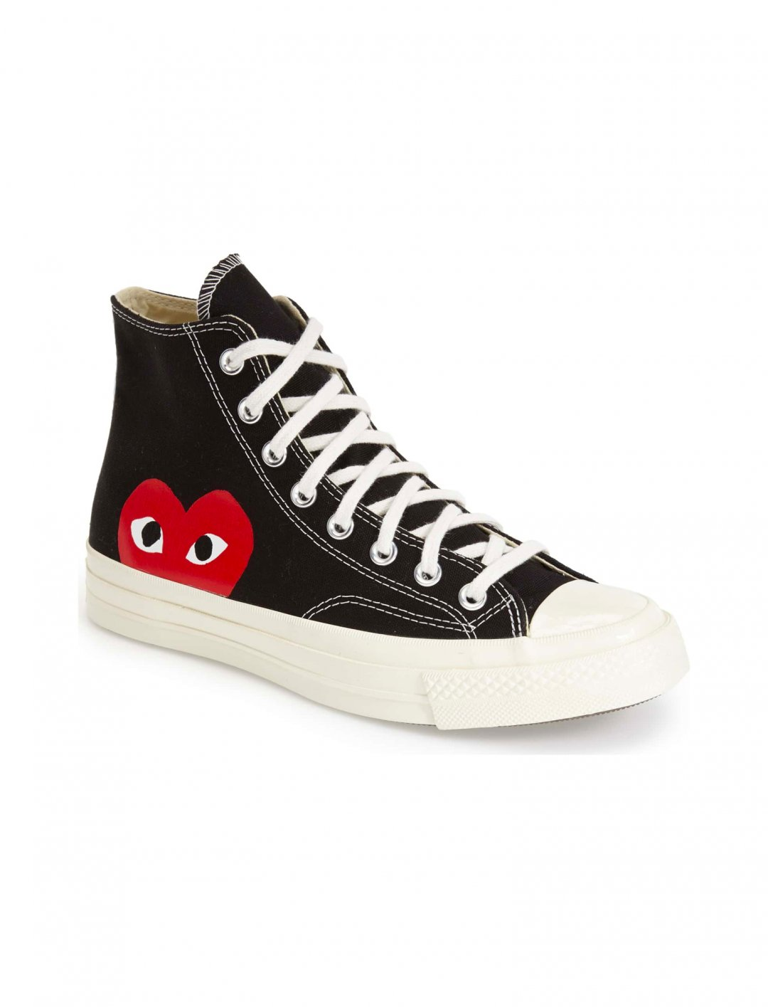 "High Top Sneakers {""id"":12,""product_section_id"":1,""name"":""Shoes"",""order"":12} Comme des Garçons x Converse"