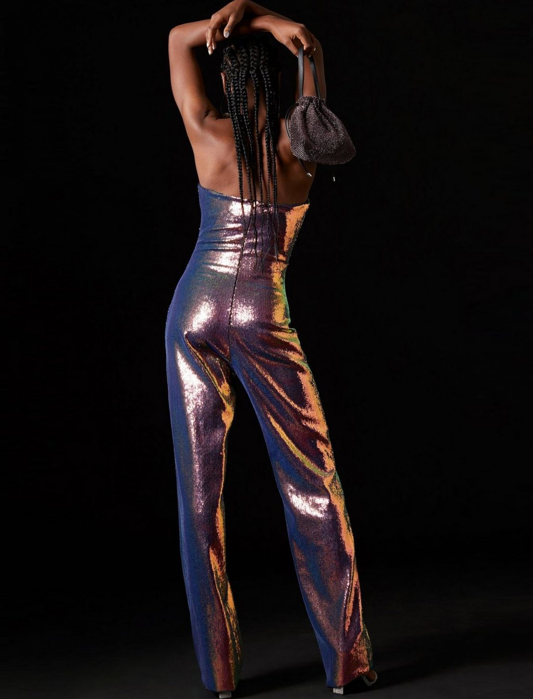 "Hologram Sequin Jumpsuit {""id"":5,""product_section_id"":1,""name"":""Clothing"",""order"":5} Topshop x Halpern"