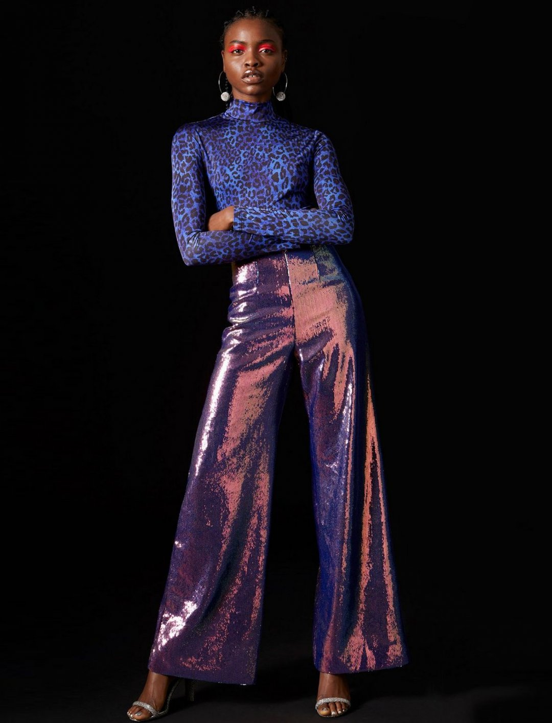 "Hologram Sequin Trousers {""id"":5,""product_section_id"":1,""name"":""Clothing"",""order"":5} Topshop x Halpern"