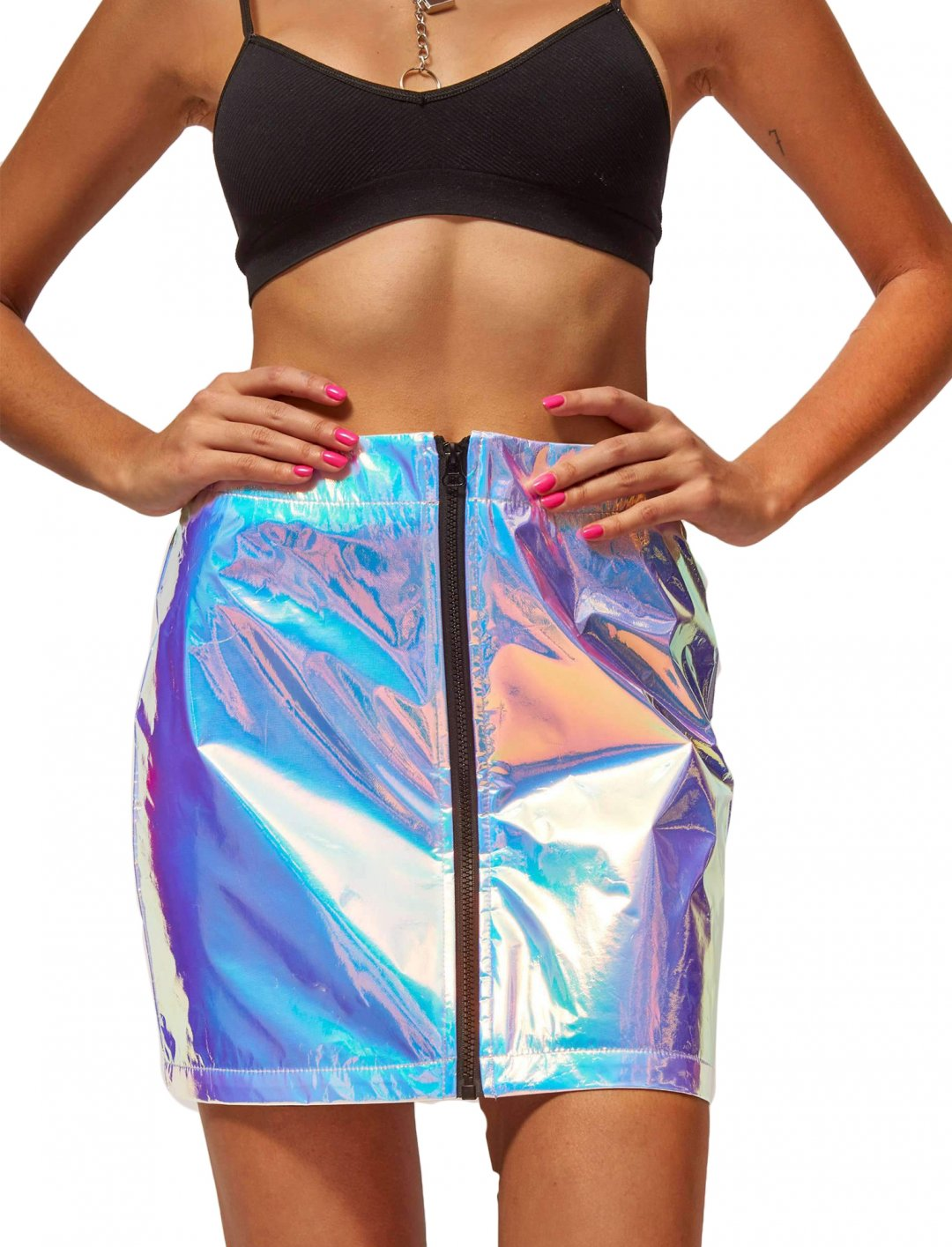 "Hologram Skirt {""id"":5,""product_section_id"":1,""name"":""Clothing"",""order"":5} Jaded London"