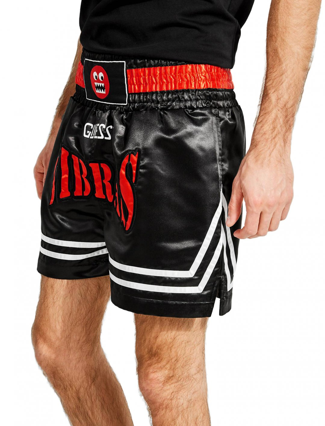 "J Balvin Boxing Shorts {""id"":5,""product_section_id"":1,""name"":""Clothing"",""order"":5} GUESS X J BALVIN"