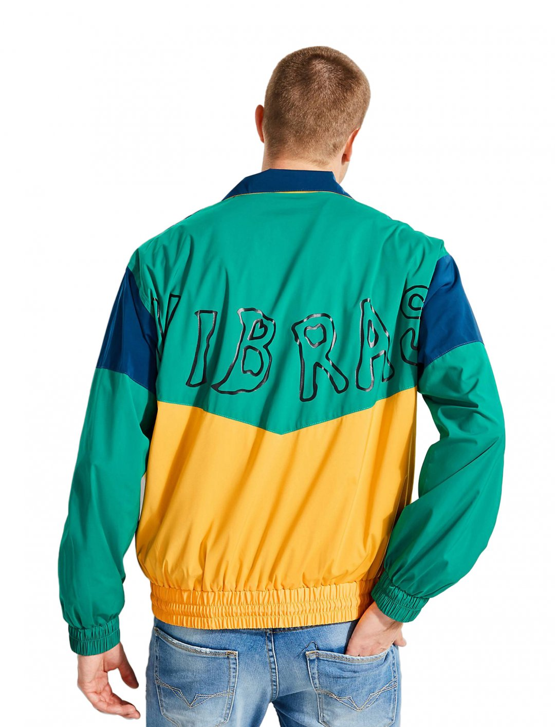 "J Balvin Windbreaker {""id"":5,""product_section_id"":1,""name"":""Clothing"",""order"":5} GUESS X J BALVIN"