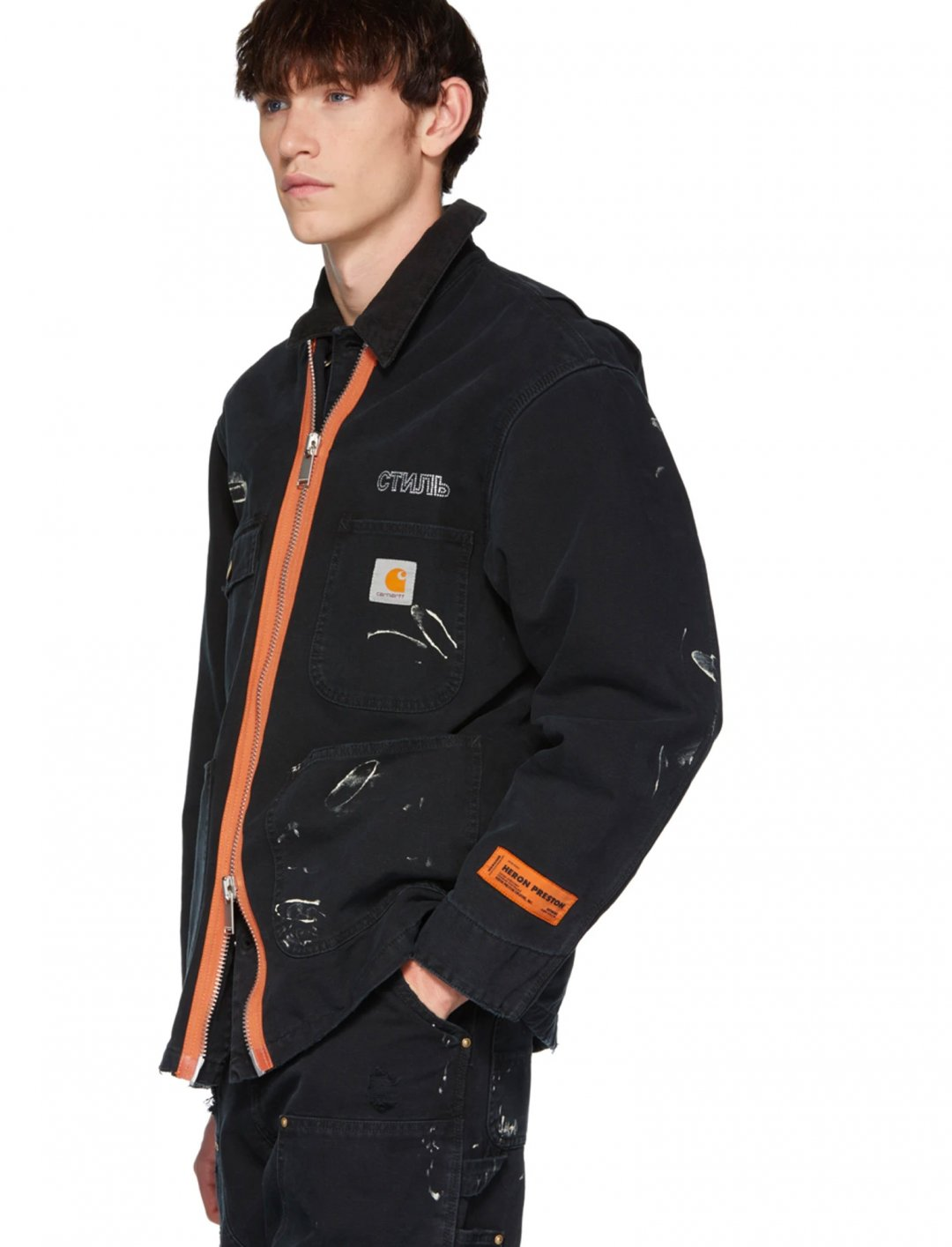 "Jacket {""id"":5,""product_section_id"":1,""name"":""Clothing"",""order"":5} Heron Preston"