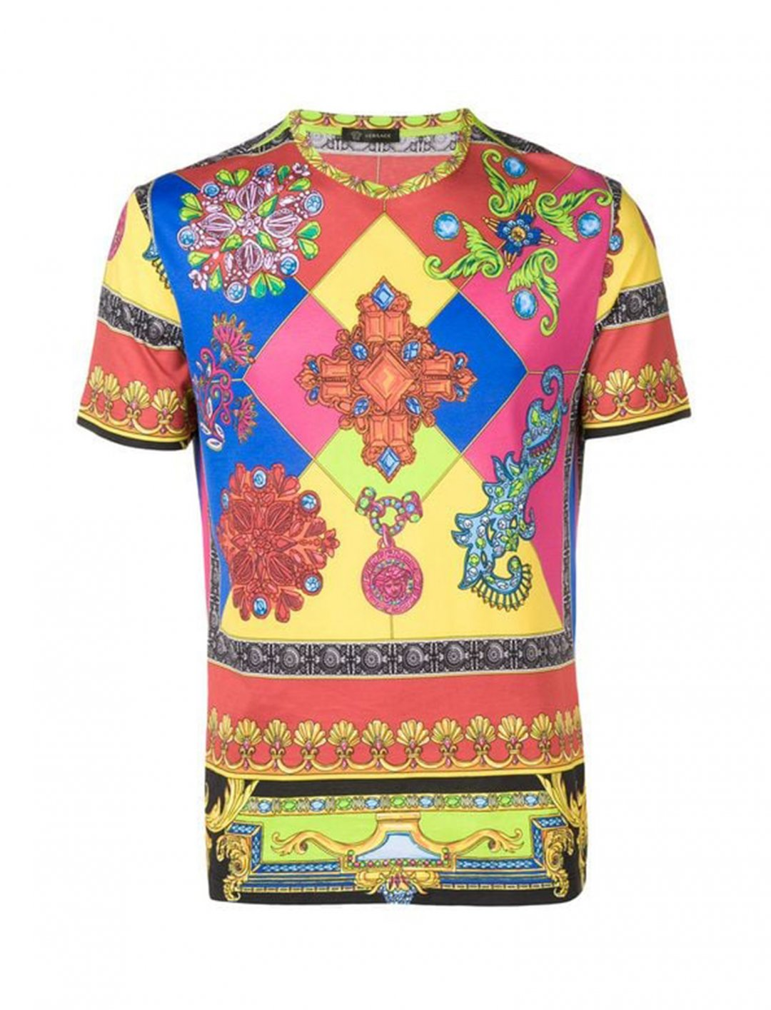 "Jewel Print T-shirt {""id"":5,""product_section_id"":1,""name"":""Clothing"",""order"":5} Versace"