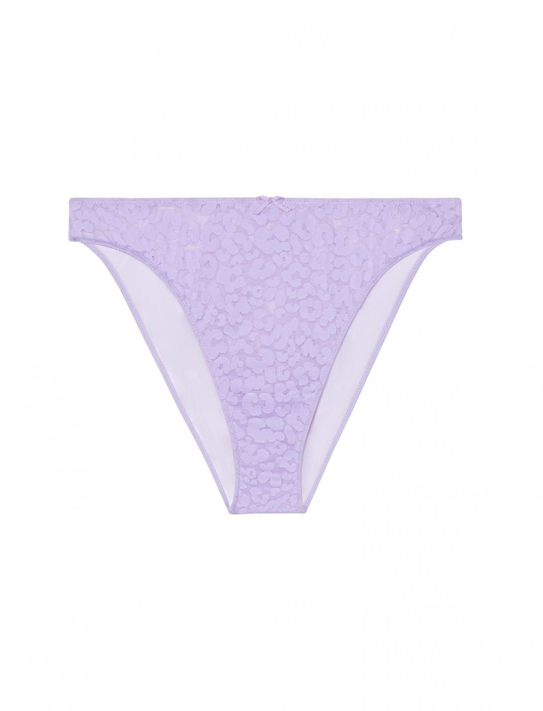 Savage X Fenty Womens High Leg Leopard Lace Bikini Underwear