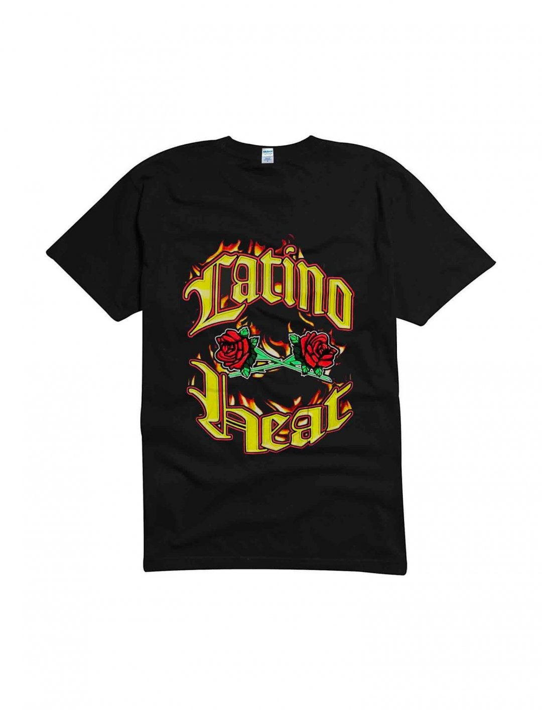 "'Latino Heat' T-Shirt {""id"":5,""product_section_id"":1,""name"":""Clothing"",""order"":5} Eddie Guerrero"