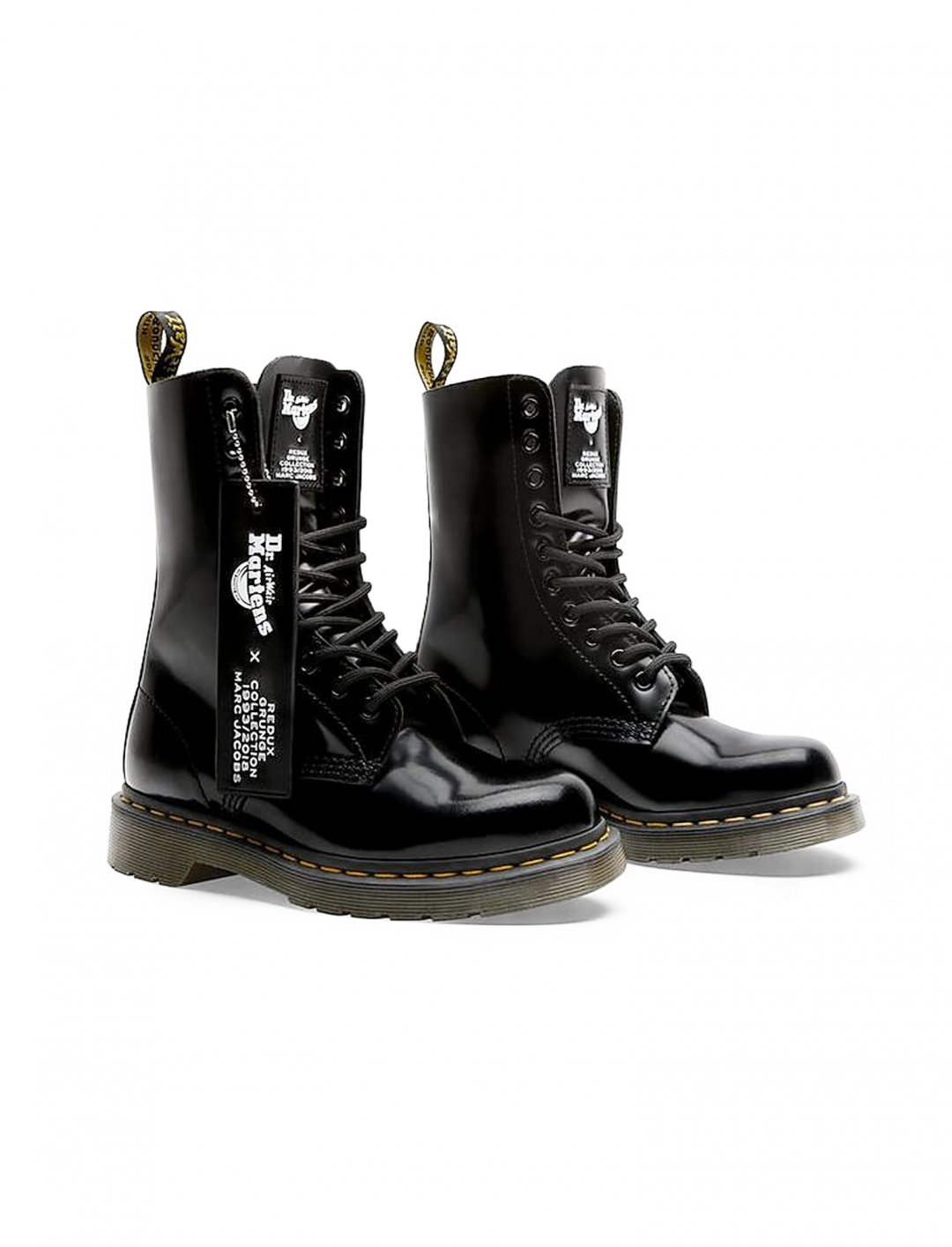 "Leather Patent Boots {""id"":12,""product_section_id"":1,""name"":""Shoes"",""order"":12} Dr Martens x Marc Jacobs"