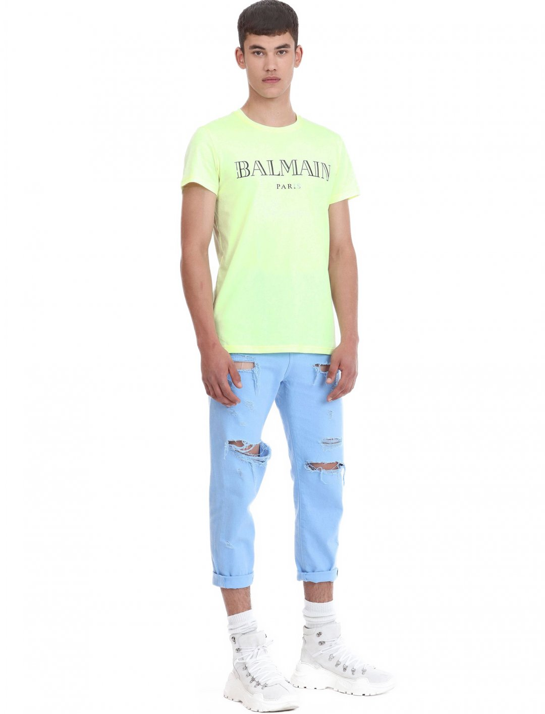 "Logo Print T-shirt {""id"":5,""product_section_id"":1,""name"":""Clothing"",""order"":5} Balmain"