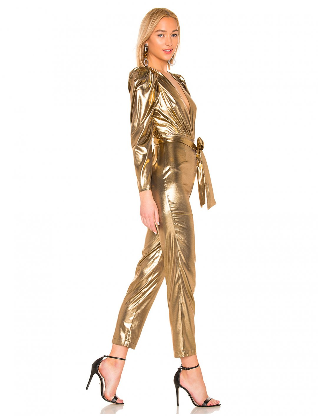 "Metallic Jumpsuit {""id"":5,""product_section_id"":1,""name"":""Clothing"",""order"":5} LPA"