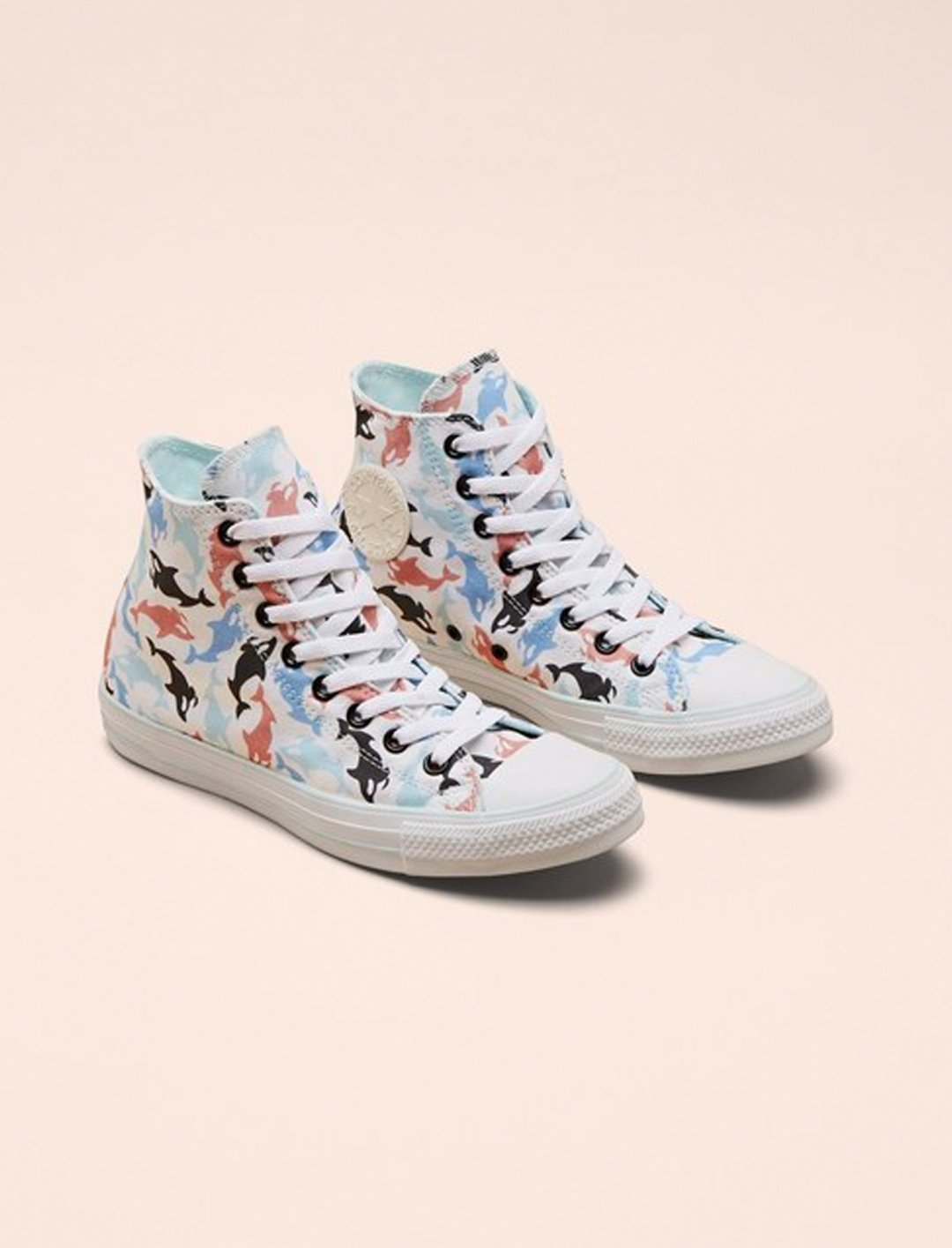 """Millie's Chuck Taylor All Star Hi Trainers {""""id"""":12,""""product_section_id"""":1,""""name"""":""""Shoes"""",""""order"""":12} Millie Bobby Brown x Converse"""