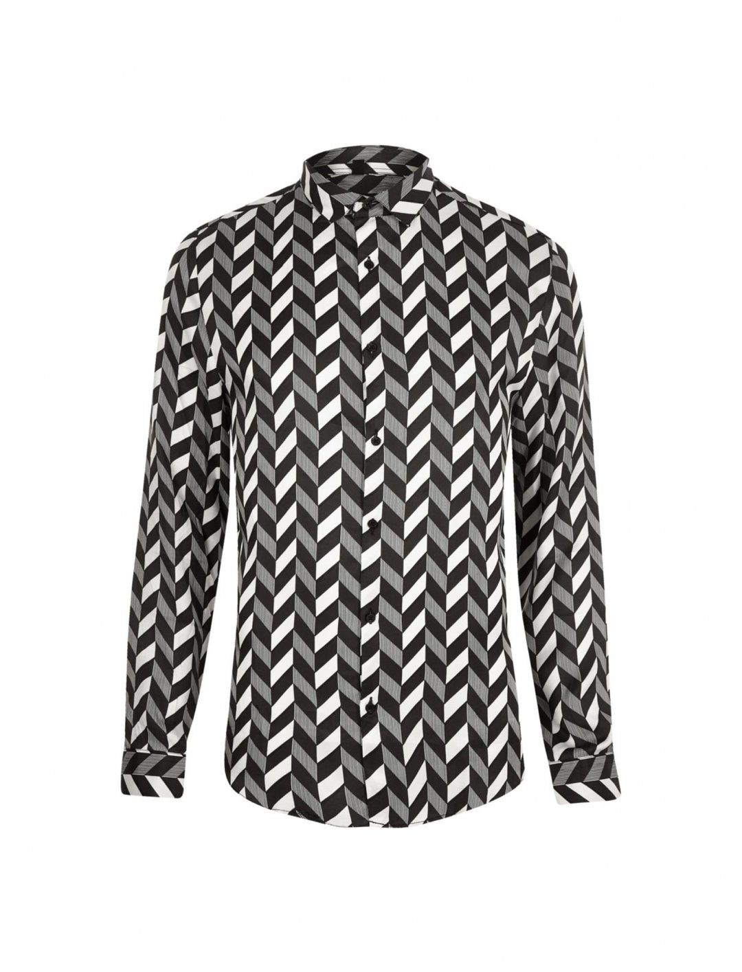 "Mono Print Shirt {""id"":5,""product_section_id"":1,""name"":""Clothing"",""order"":5} Olly Murs x River Island"