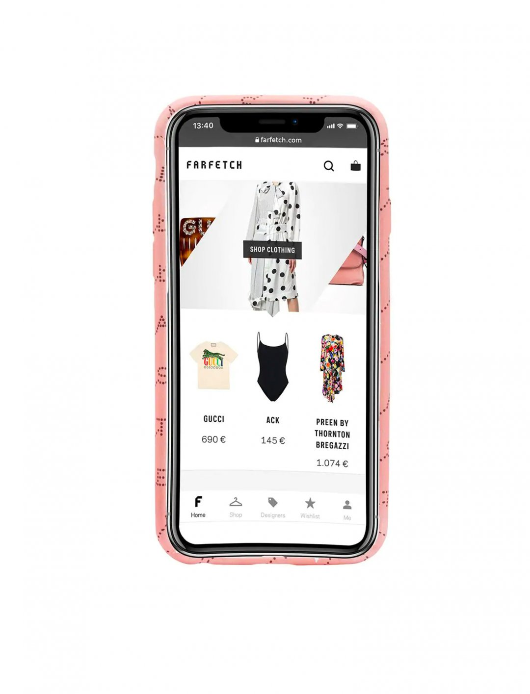 "Monogram Print iPhone Case {""id"":16,""product_section_id"":1,""name"":""Accessories"",""order"":15} Stella McCartney"