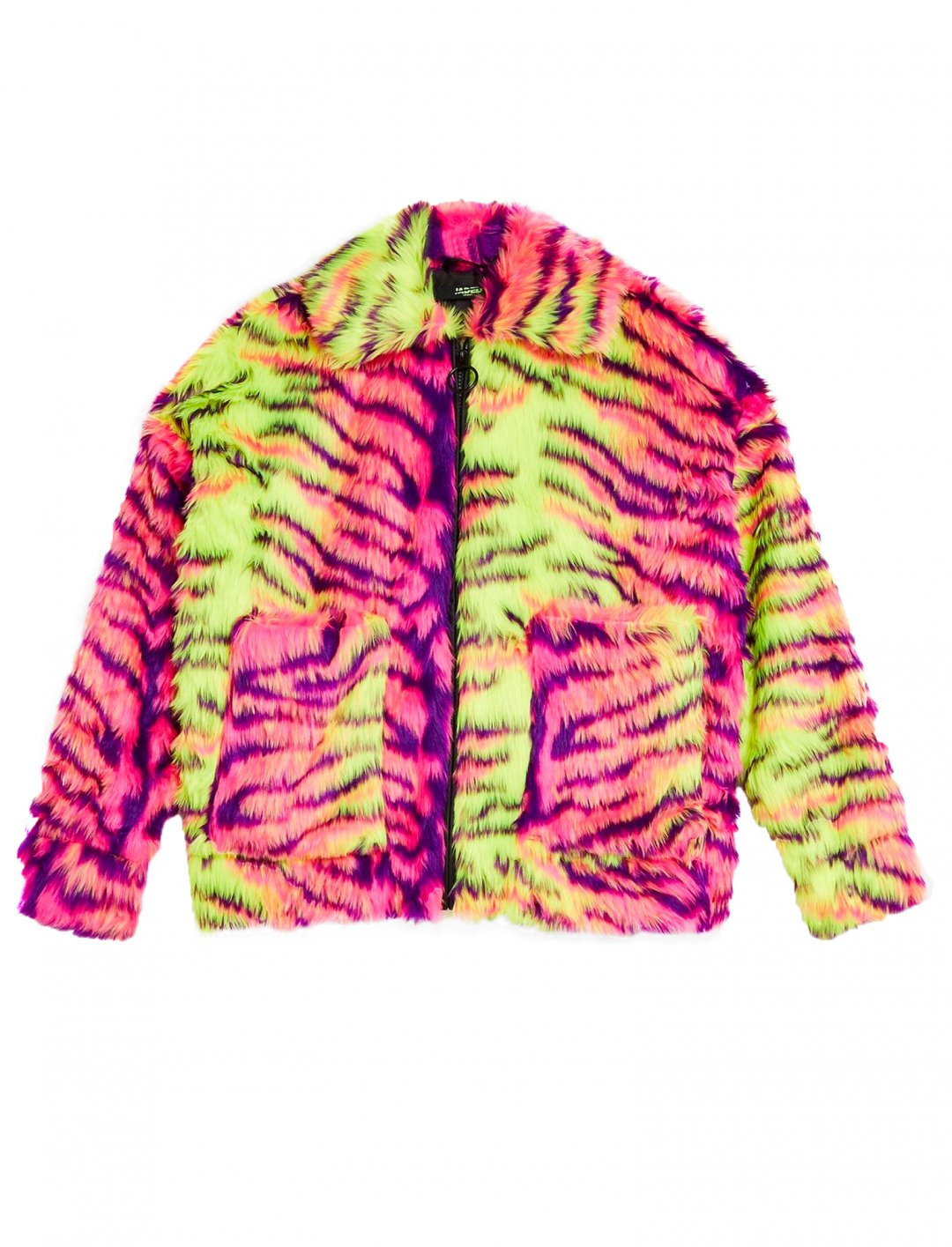 "Neon Faux Fur Jacket {""id"":5,""product_section_id"":1,""name"":""Clothing"",""order"":5} Jaded London"