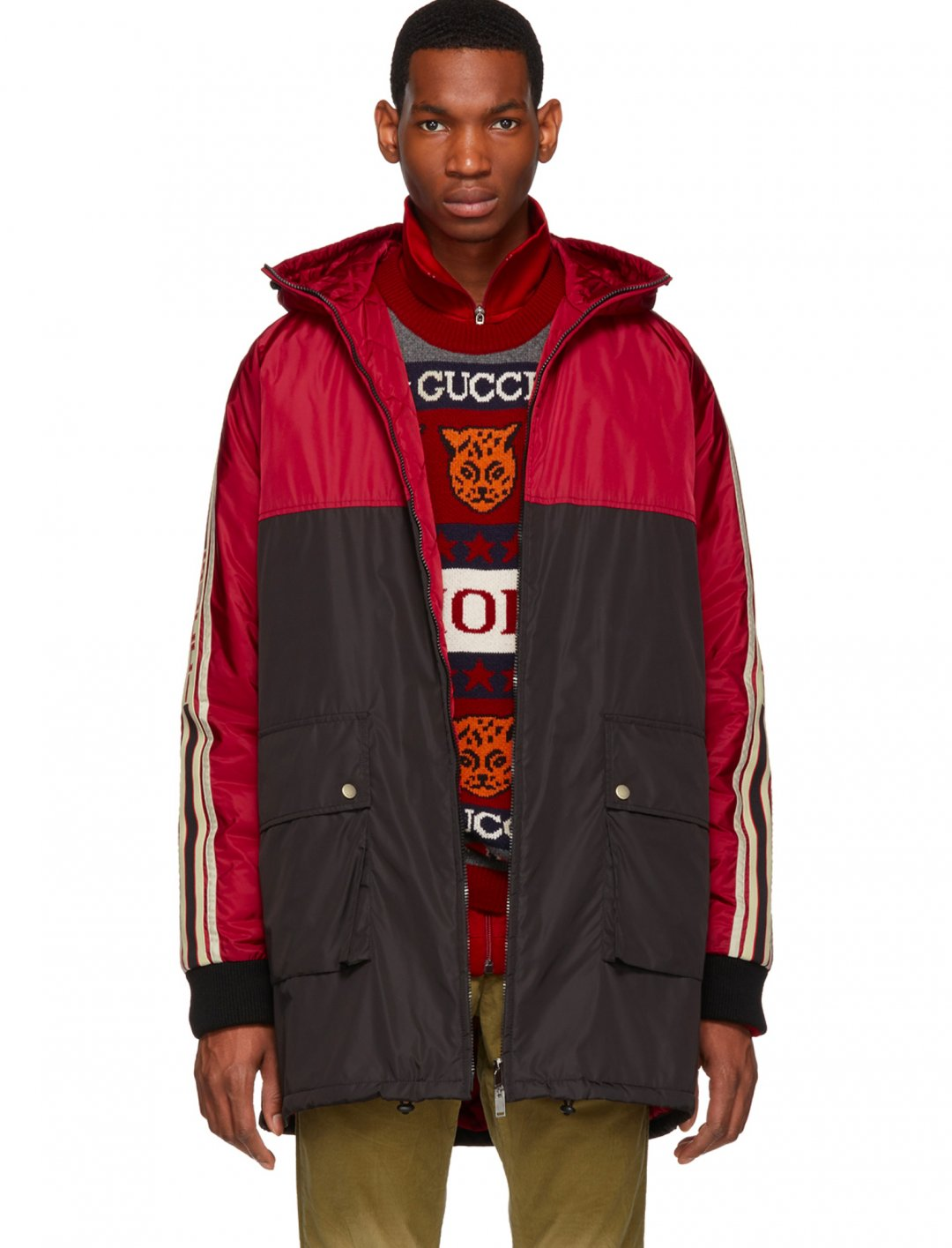 "Nylon Coat {""id"":5,""product_section_id"":1,""name"":""Clothing"",""order"":5} Gucci"