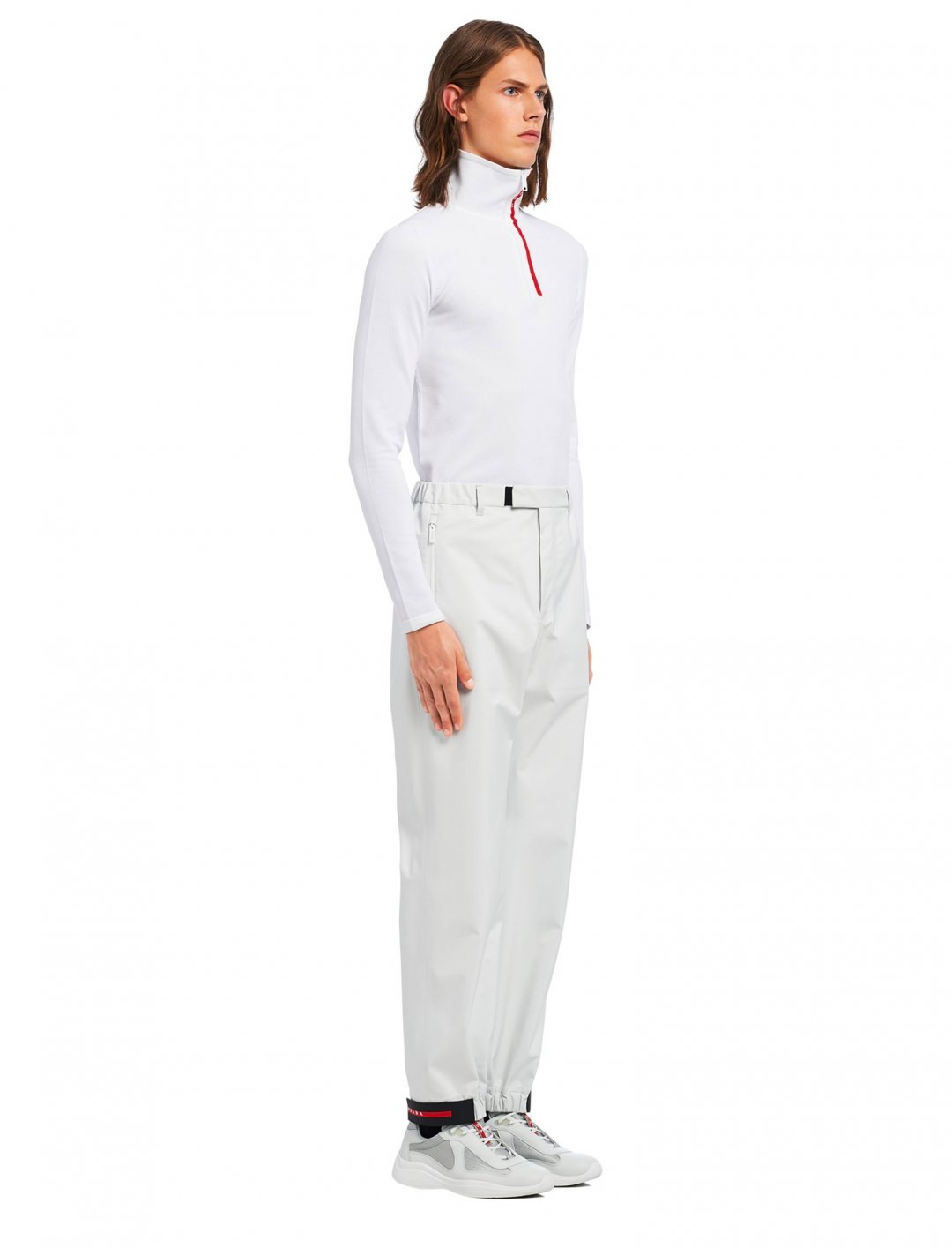 "Bugzy's Nylon Trousers {""id"":5,""product_section_id"":1,""name"":""Clothing"",""order"":5} Prada"