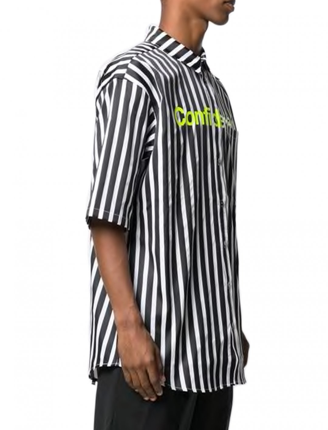 "Oversized Striped Shirt {""id"":5,""product_section_id"":1,""name"":""Clothing"",""order"":5} Marcelo Burlon County Of Milan"