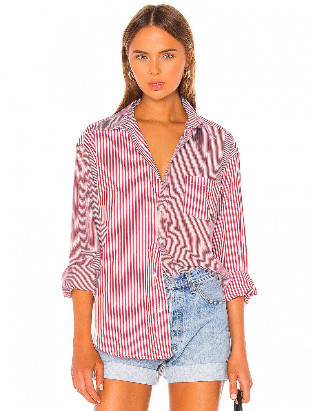 """Oxford Shirt {""""id"""":5,""""product_section_id"""":1,""""name"""":""""Clothing"""",""""order"""":5} Solid & Striped x Re/Done"""