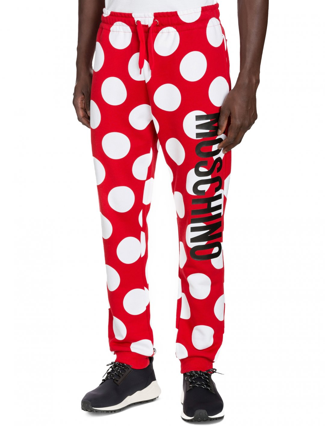 "Polka Dot Joggers {""id"":5,""product_section_id"":1,""name"":""Clothing"",""order"":5} Moschino"