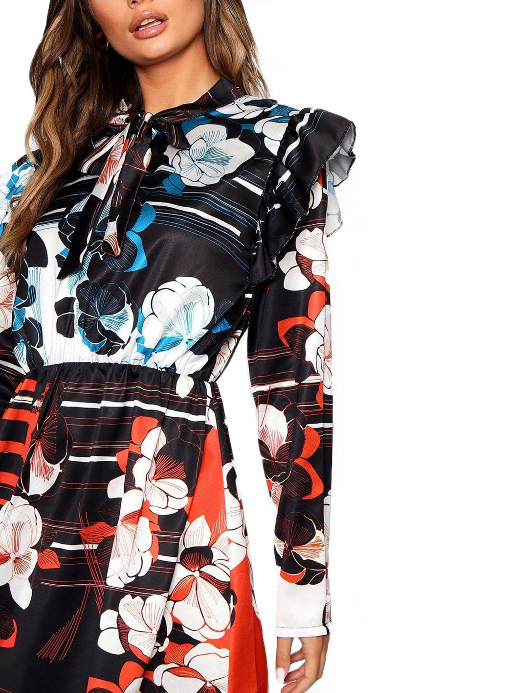 "Printed Skater Dress {""id"":5,""product_section_id"":1,""name"":""Clothing"",""order"":5} boohoo"