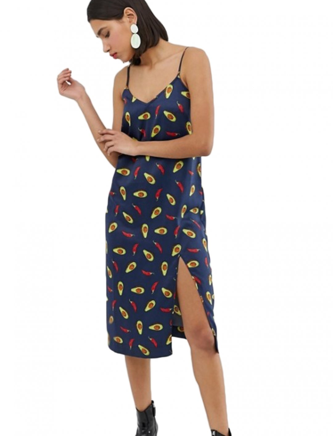 "Printed Slip Dress {""id"":5,""product_section_id"":1,""name"":""Clothing"",""order"":5} Neon Rose"