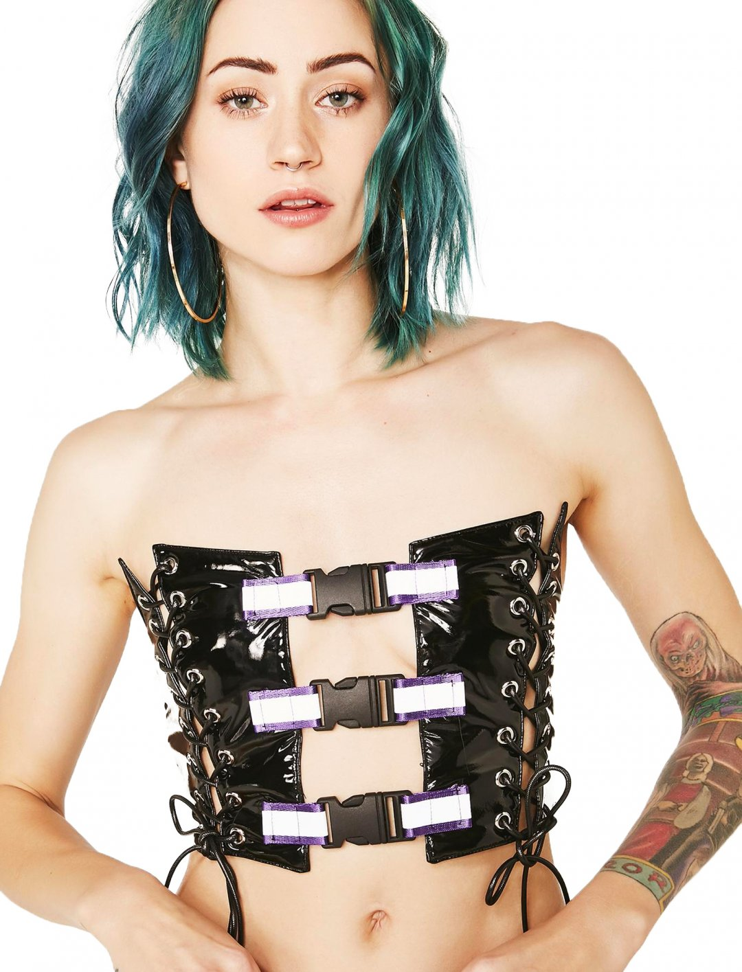 "Reflective Buckle Top {""id"":5,""product_section_id"":1,""name"":""Clothing"",""order"":5} Jaded London"
