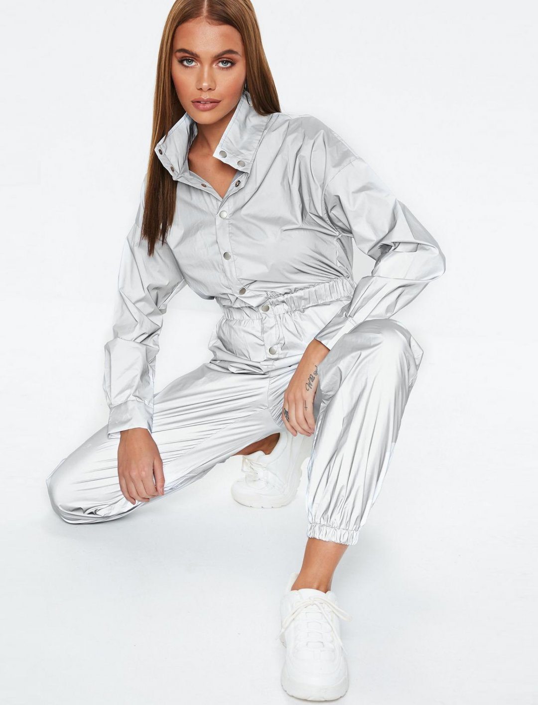 "Reflective Jumpsuit {""id"":5,""product_section_id"":1,""name"":""Clothing"",""order"":5} Missguided"