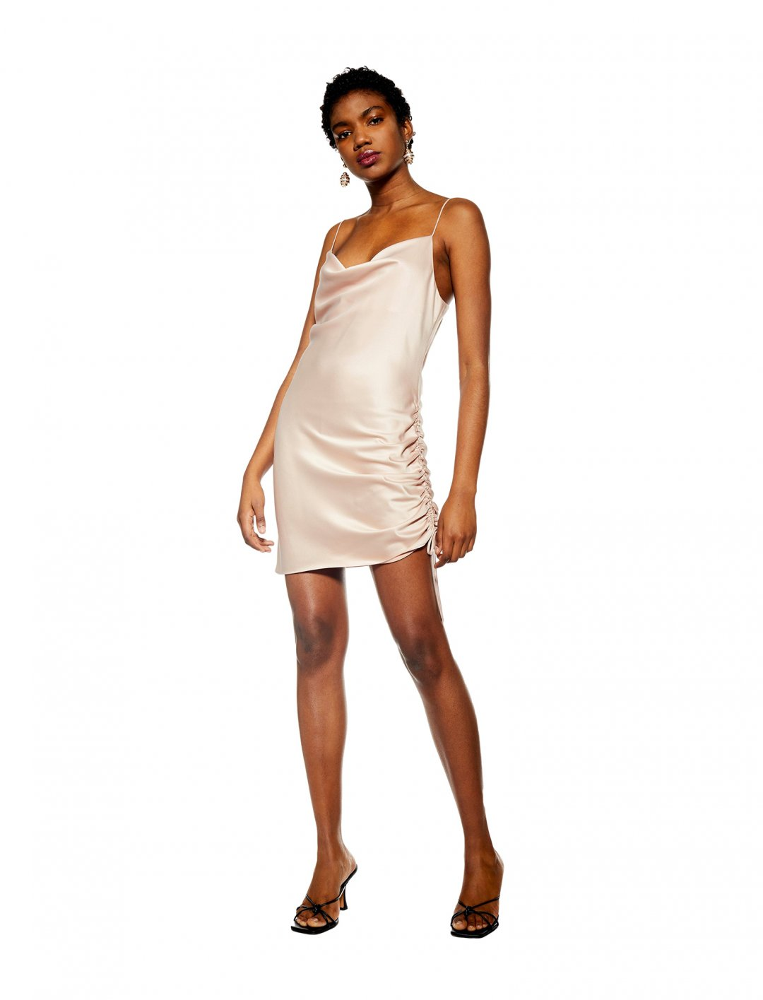 "Ruched Slip Dress {""id"":5,""product_section_id"":1,""name"":""Clothing"",""order"":5} Topshop"