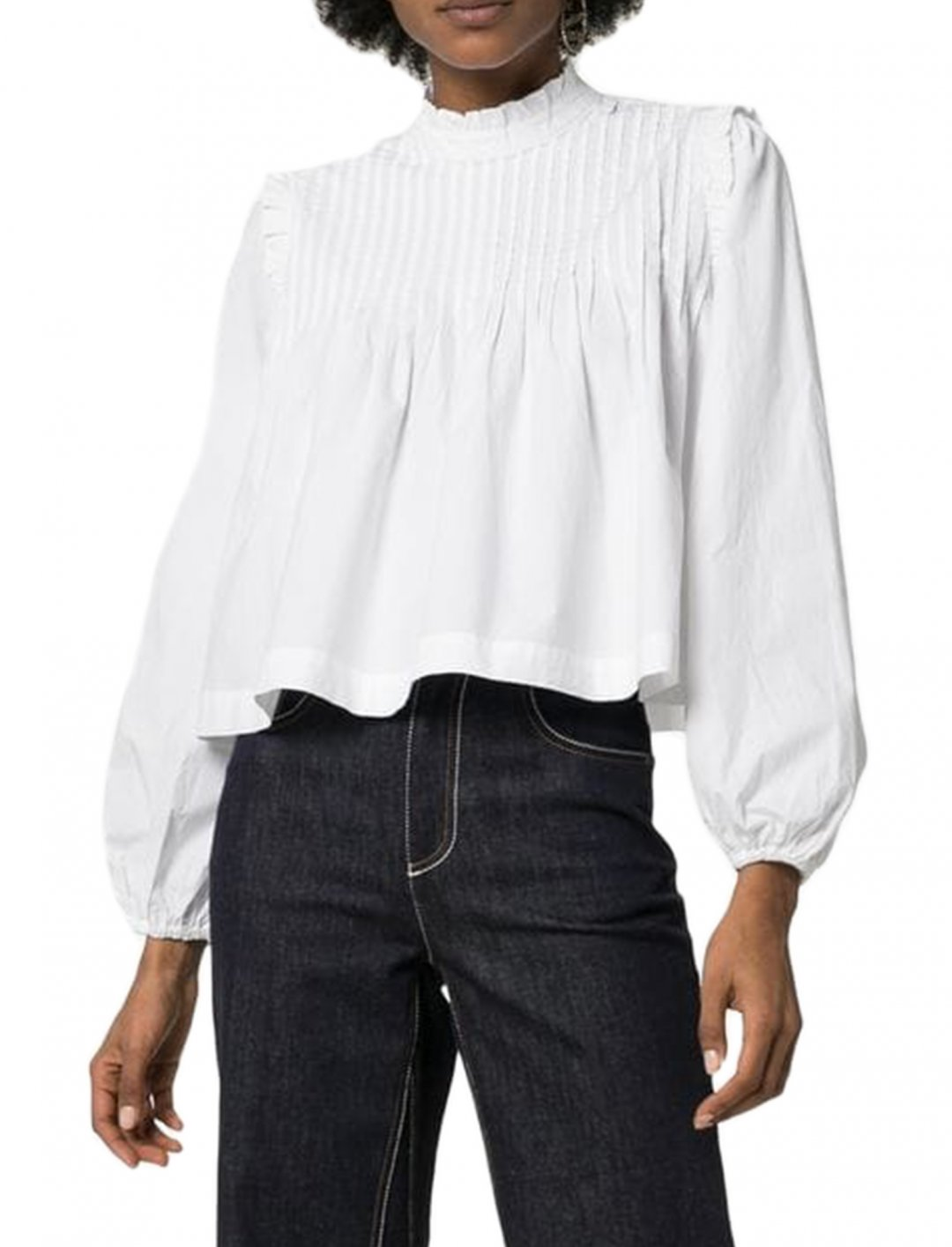 "Ruffle Blouse {""id"":5,""product_section_id"":1,""name"":""Clothing"",""order"":5} Ganni"