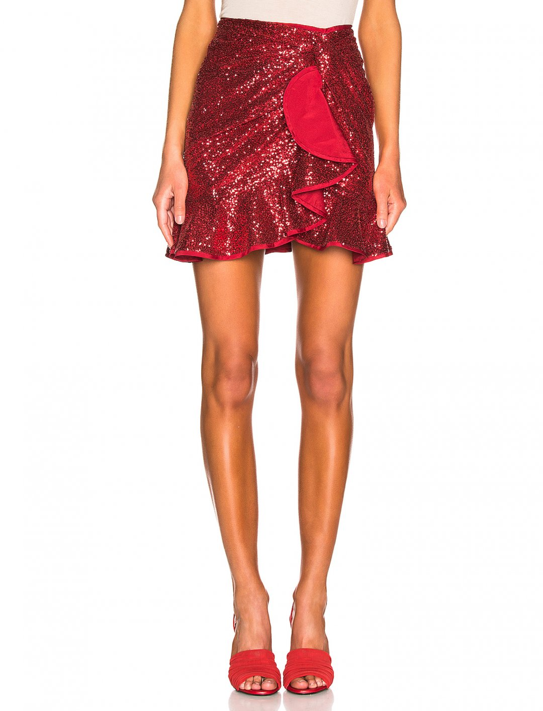 "Sequin Ruffle Skirt {""id"":5,""product_section_id"":1,""name"":""Clothing"",""order"":5} Self-Portrait"