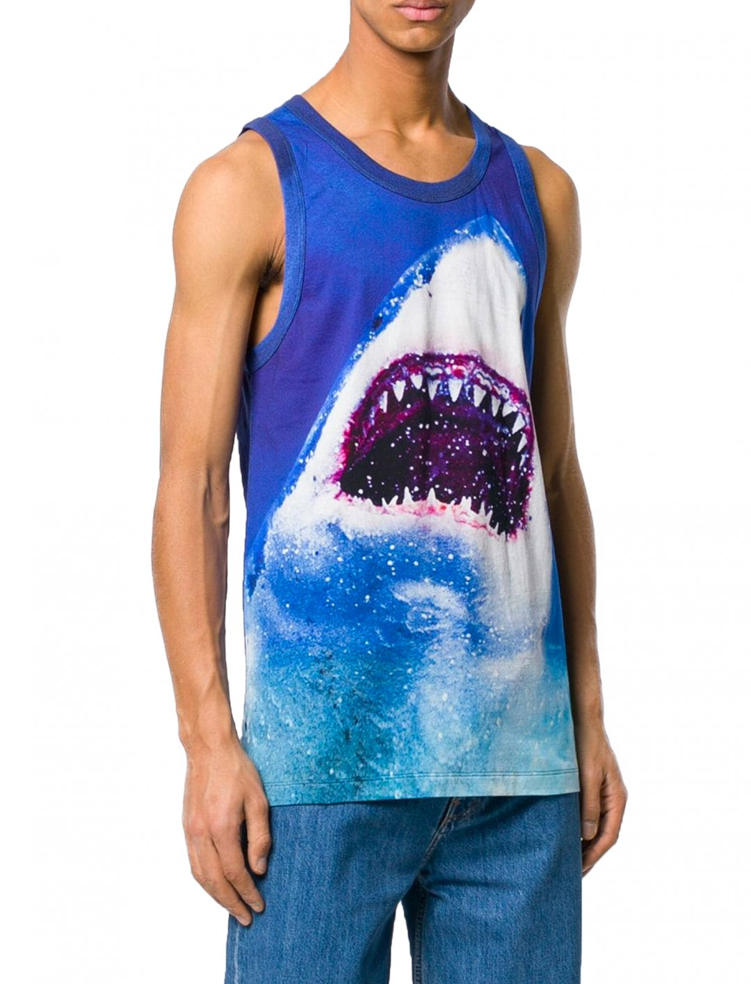 "Shark Print Tank Top {""id"":5,""product_section_id"":1,""name"":""Clothing"",""order"":5} MSGM"