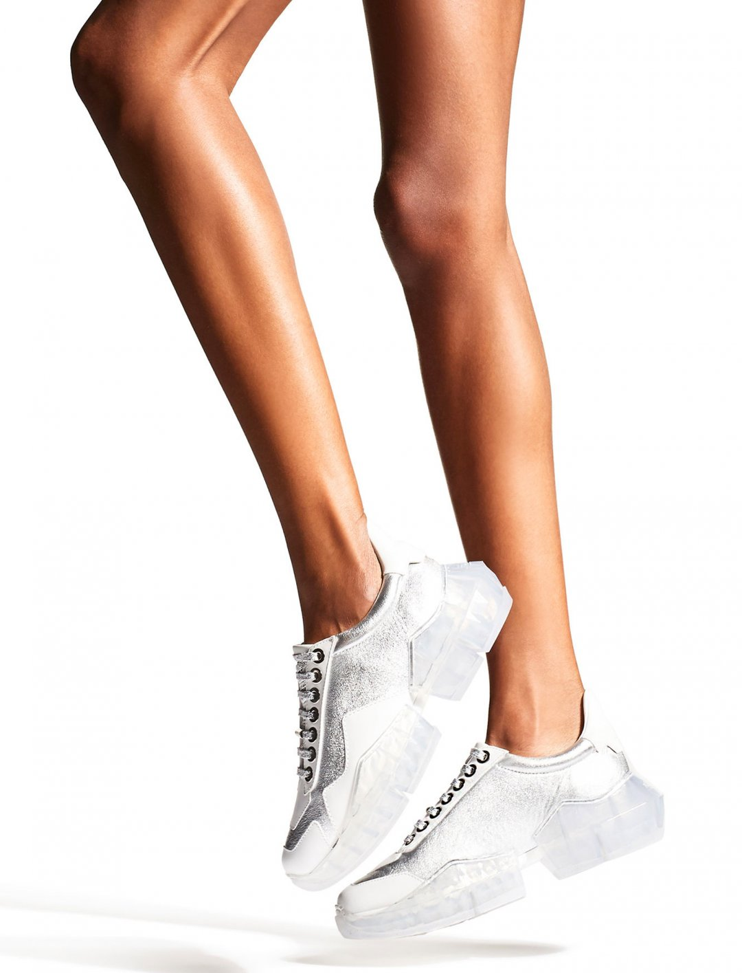 "Silver Metallic Trainers {""id"":12,""product_section_id"":1,""name"":""Shoes"",""order"":12} Jimmy Choo"