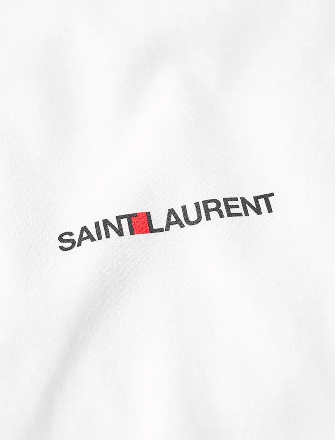"Small Logo T-shirt {""id"":5,""product_section_id"":1,""name"":""Clothing"",""order"":5} Saint Laurent"